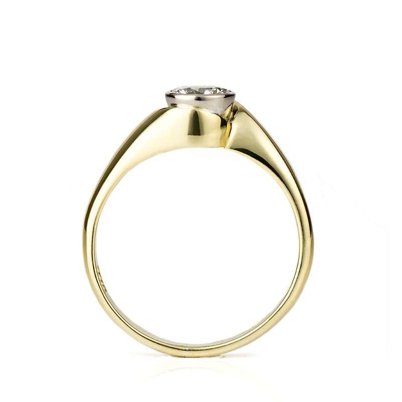 18k Yellow Gold Round Diamond Ring 0.45ct L/VS2